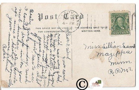 Vintage Postcard Creek Scene Near Twin Cities 1908,  Country Scene in Minnesota