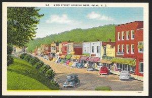 Main Street Sylva North Carolina Unused c1940s