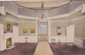 Virginia Charlottesville The Entrance Hall At Monticello Home Of Thomas Jeffe...