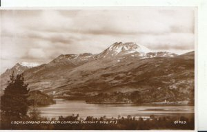 Scotland Postcard - Loch Lomond and Ben Lomond [Height 3192 ft] RP - Ref 9055A