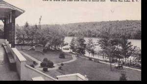New York  White Roe Lake View of Lake from Porch of Social Hall     Albertype