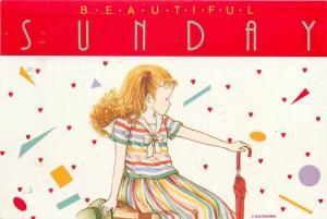 Beautiful Sunday signed Kutsuwa Japan 1991 postcard