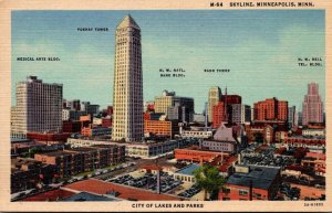 Minnesota Minneapolis Skyline Curteich