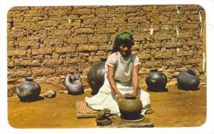 Artist Dona rOSA making pottery, by hand without pottery wheel, OAXACA, Mexic...