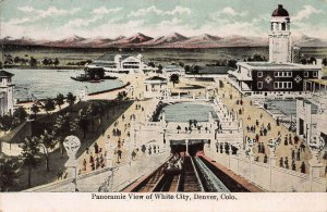 A Panoramic View of White City, Denver, Colorado, Early Postcard, Unused