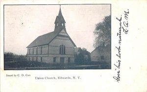 Union Church Edwards, New York Postcard