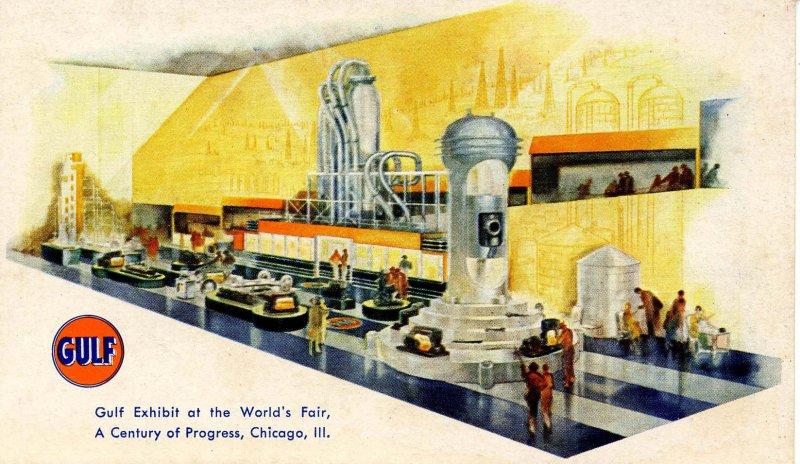IL - Chicago. 1933 World's Fair, Century of Progress. Gulf Oil Exhibit