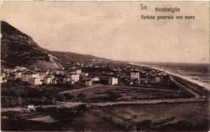 CPA VENTIMIGLIA veduta generale con mare. ITALY (530995)