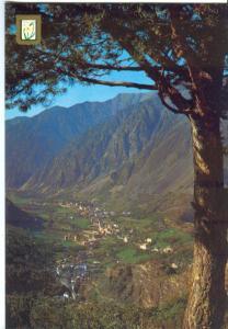 Valls d'Andorra, Vista general de Les Escaldes i Andorra la Vella, Postcard