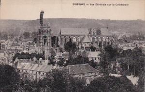 France Soissons Vue Generale sur la Cathedrale