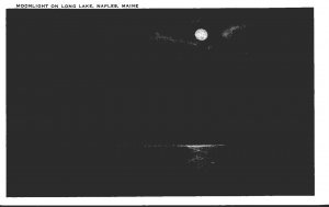 Maine Naples Moonlight On Long Lake