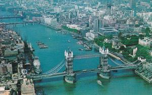 England London Aerial View Of Tower Bridge