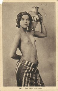 PC CPA ETHNIC NUDE YOUNG FEMALE TYPE, MOROCCO (b5238)