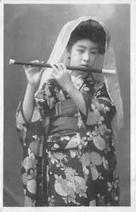 uk41940 sing japan geisha flutte costume types folklore
