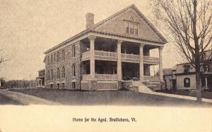 Brattleboro Vermont~Home for the Aged~Drive Around Back~1910 Sepia Postcard