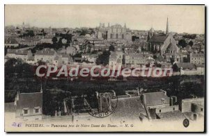 Old Postcard Poitiers Panorama taken of Our Lady of the Dunes