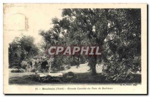 Old Postcard Roubaix north of Grand Cascade Park BARBIEUX
