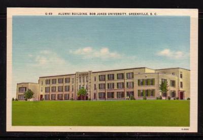 South Carolina colour PC Alumin Building Bob Jones University Greenville, unused