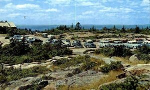 Summit of Cadillac Mountain in Bar Harbor, Maine