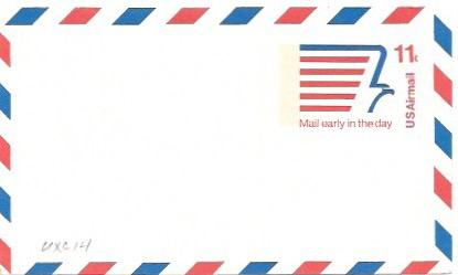 UXC14  Air Mail Postcard