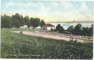 Lake View from the Overlook, Chautauqua, New York State, Double Back