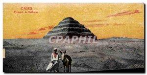Old Postcard Egypt Cairo Egypt Pyramid of Sakkara Donkey Mule