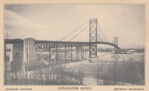WINDSOR , Ontario , Canada , 1930s ; Ambassador Bridge