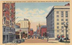 Oregon Portland Broadway From Madison Street Looking North Curteich sk416
