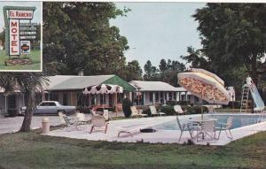 Swimming Pool,  El Rancho Motel,  Walterboro,   South Carolina,  40-60s