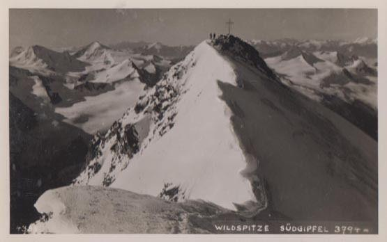 Wildspitze Sudgipfel Mountain Austria Rare Photo Postcard