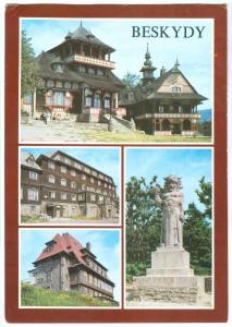 Czech Republic, BESKYDY, used Postcard