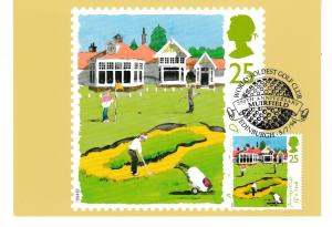 Post Card  25p stamp issued 5 July 1994 depicting Golf  Muirfield : 18th Hole wi