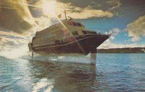 Boeing Built Boat Ship Seattle Allison Gas Turbines 1970s Postcard