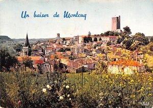 Montcuq, ,Vue d'ensemble France 1977 Ink Stamp