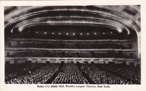 New York City Radio City Music Hall World's Largest Theatre Real Photo