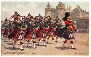 Scotland, Queens Own Cameron Highlanders, Early Valentine's Postcard Unused