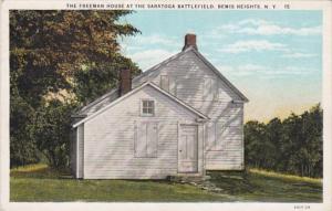 New York Saratoga Springs The Freeman House At Saratoga Battlefield Bemis Hei...