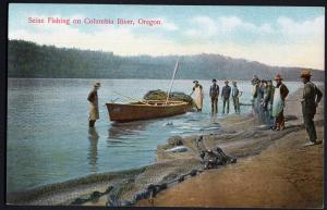 Oregon ~ Seine Fishing on COLUMBIA RIVER Divided Back