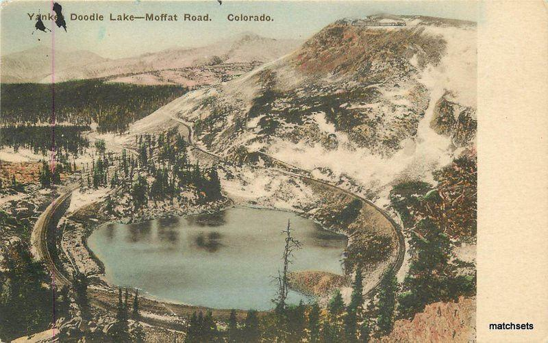C-1915 Moffat Road Railroad Colorado Yankee Doodle Lake Albertype 11120