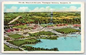 Mundelein Illinois~St Mary of the Lake Theological Seminary Aerial View~1927