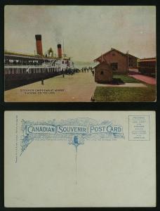 Steamer Chippewa Wharf Niagara on the lake c 1905-10