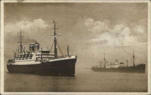 German Steamship Hapag Schnelldampfer New York c1915 Real Photo Postcard