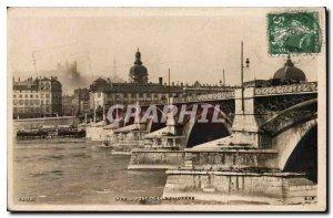 Old Postcard Lyon Guillotiere Bridge