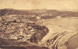 uk22989 criccieth bay from castle wales real photo uk