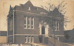 F56/ Schuyler Nebraska RPPC Postcard 1913 Public Library