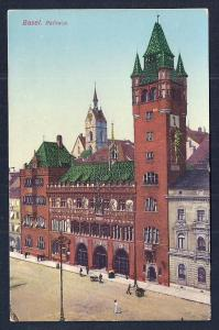 Town Hall Basel Switzerland unused c1910's