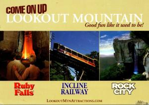 Tennessee Chattanooga Lookout Mountain Atttractions Ruby Falls Incline Railwa...