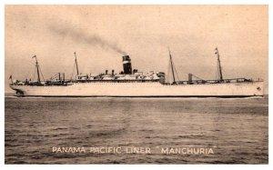 S.S. Manchuria Panama Pacific Linie