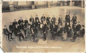 RPPC Schuster's Students Symphony Orchestra Salt Lake City 1914 Vintage Postcard