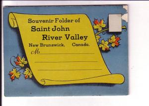 Souvenir Folder Saint John River Valley, New Brunswick, Map, Towns